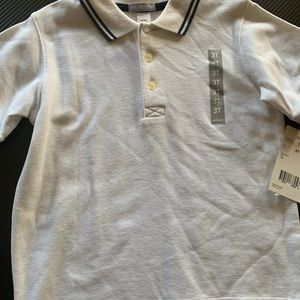 Carter 3T polo NWT white with navy trim